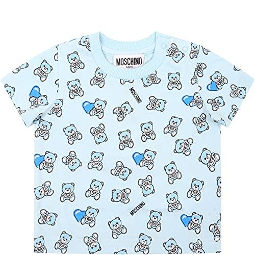 Moschino - Camiseta celeste para bebé con osito de peluche – 6...