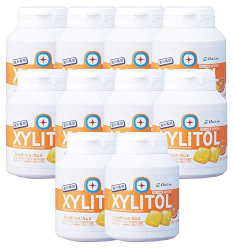 歯科専用 キシリトールガム ボトルタイプ オレンジ (約90粒) 10個セット