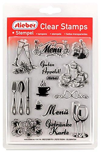 stieber Clear Stamps Transparente Stempel Sets (Bitte gewünschtes Motiv/Thema unten auswählen!) (Feste FEIERN - Celebration)