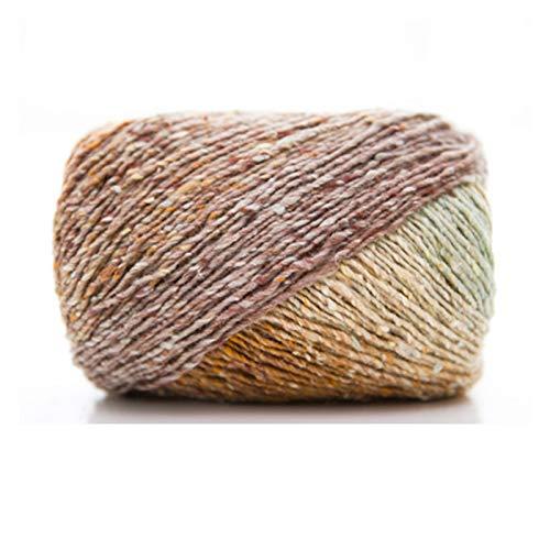 Hongtai 200g / Lot Space Dye Garen For Het Breien Fancy Garen Crochet Draad For Sjaal Mooie Kleuren Handwork Crafts (Color : 08)