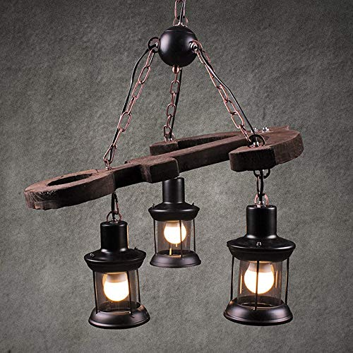 WarmHome Estilo De País De América Lámpara Retro Creativo De Loft Industrial Bar Cafetería Restaurante Bar El Hombre Funaki Iluminación De Lámparas De Araña De 90 * 58 * 53 * 56cm