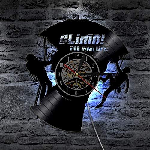 JXWH La Batteria dell'orologio da Parete per Arrampicata Creativa con la Lampada della Luce Notturna può Essere appesa al Buio