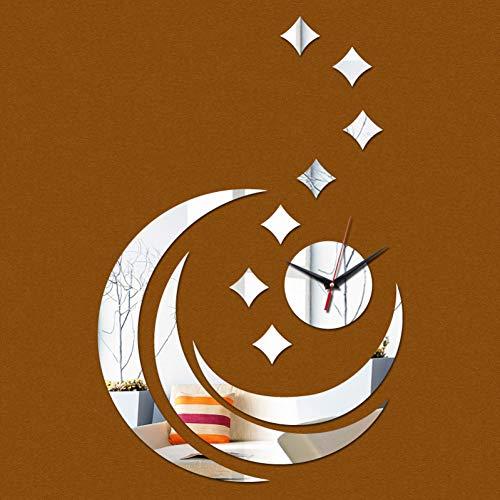 TAOZIAA Muur klokken en horloges modern design grote decoratieve 3d acryl spiegel te koop quartz woonkamer