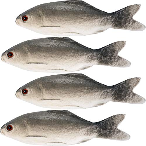 Gejoy 4 Pieces Fake Fish Simulated Fish Artificial Sea Fish Model for Home Party Market Display Kids Toy Kitchen Decoration Photography Props