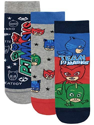 PJ Masks Jungen Catboy Owlette Gecko Socken Packung mit 3 Paar (Junior 24-26.5 cm)