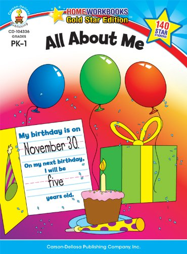 All About Me, Grades PK - 1 (Home Workbooks)