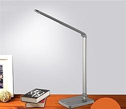 LED Desk lamp Work Study Bedroom Bedside lamp Four Tone Key dimming Dark Grey,B,Paragraph