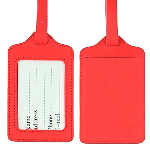 Lizimandu ,  Kofferanhänger, rot (rot) - uk-luggage tags-Red