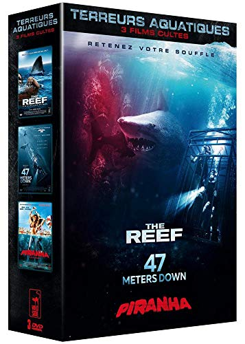 Coffret Requins Terreur Aquatique : The Reef + 47 Meters Down + Piranha 3D [Francia] [DVD]