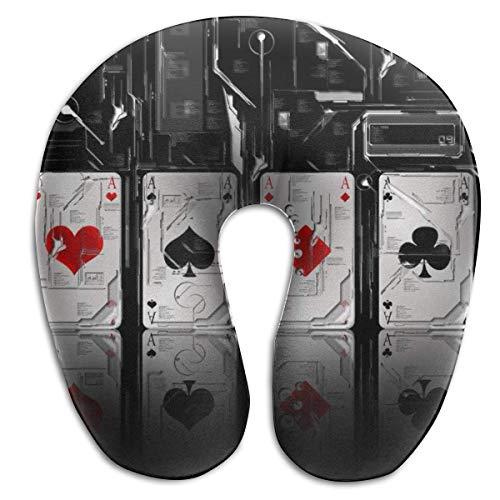 Almohada en Forma de U, Cuello, Cartas de póquer Frescas, Viaje, Almohada Multifuncional, Coche, avión