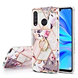 DEFBSC for HUAWEI P30 Pro Marble Case with Ring Kickstand,