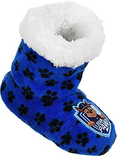 Patrulla Canina Dogs - Zapatillas de estar por casa con tacos antideslizantes, color Azul, talla 31/32 EU