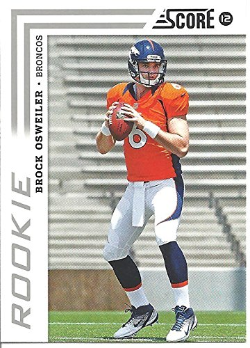 BROCK OSWEILER ROOKIE CARD COLLECTIBLE FOOTBALL CARD NUMBERS GAME INSERT - 2012 PANINI SCORE FOOTBALL CARD #310 (DENVER BRONCOS)