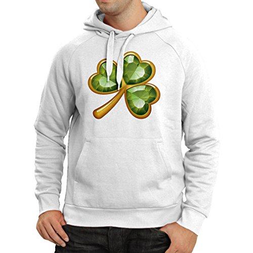 lepni.me sweatshirt met capuchon, lange mouwen, Irish Shamrock, St. Patricks Day, partykleding, Iers