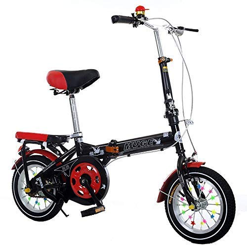 Kinderfahrräder Falträder Erwachsener im Freien Fahrradstudent Road School Bike Junge Mädchen Schüler Fahrrad 18 Zoll / 20 Zoll (Farbe: Schwarz, Größe: 18inch) lalay ( Color : Black , Size : 20inch )