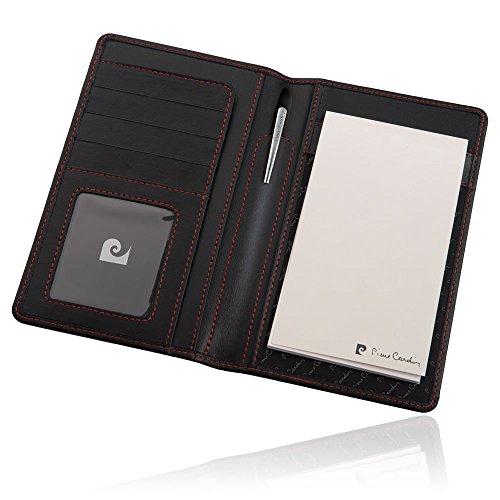 PIERRE CARDIN Set aus Leder-Etui für Kredit-karten und Smartphone und hochwertiger Dreh-Kugelschreiber aus Metall Metall-Kulli in Geschenk-verpackung business Kugelschreiber STYLE