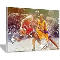 ジョーダンポスターホームデコレーションキャンバスウォールポスターバスケットボールファンモダンアートリビングルームベッドルームモダン壁画デコレーション20x30cm(8x12inch)内枠