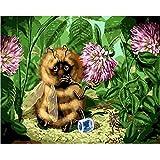 Pintura sin marco por números para colorear para la decoración del hogar decoración de la pared lienzo pintura abeja