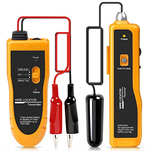 Kolsol F02 Underground Cable Locator, Wire Tracer with Earphone, Cable Tester for Dog Fence Cables Irrigation Control Wires