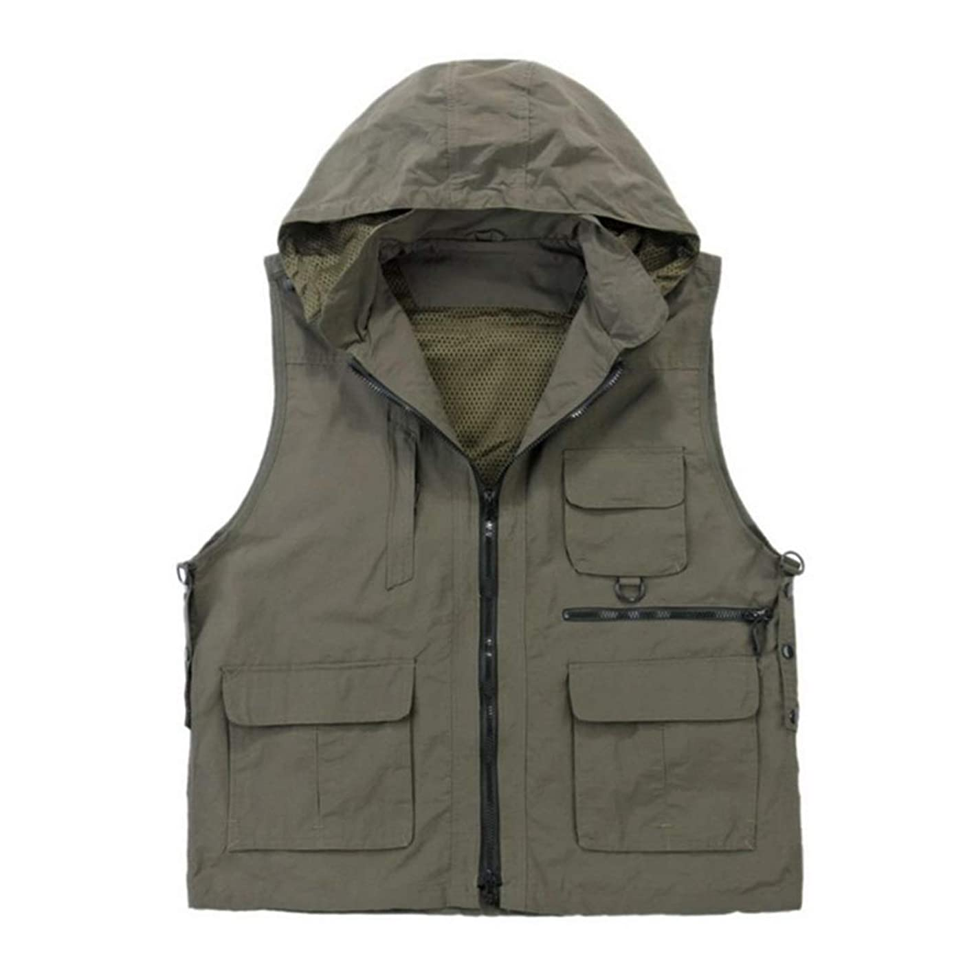 Deebling Nylon Breathable Openwork Camouflage Journalist Photographer Fishing Vest Waistcoat Jacket Coat hrdspwxjaxr840