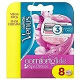 Gillette Venus ComfortGlide Spa Breeze Ersatzklingen Damenrasierer, Set von 8 jeweils mit 3 Klingen für eine anhaltend glatte und gründliche Rasur -