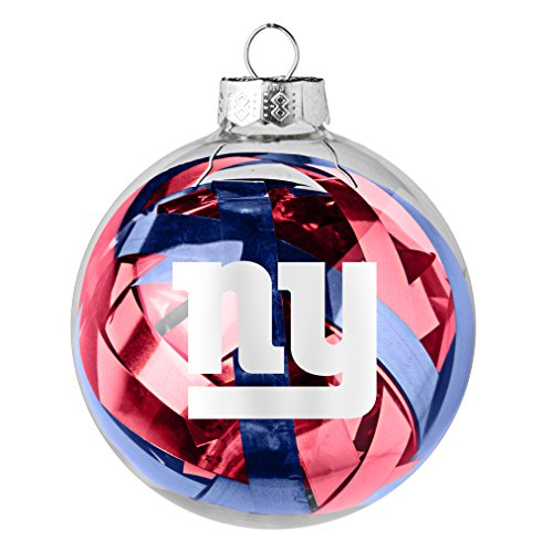 NFL New York Giants Large Tinsel Ball Ornament