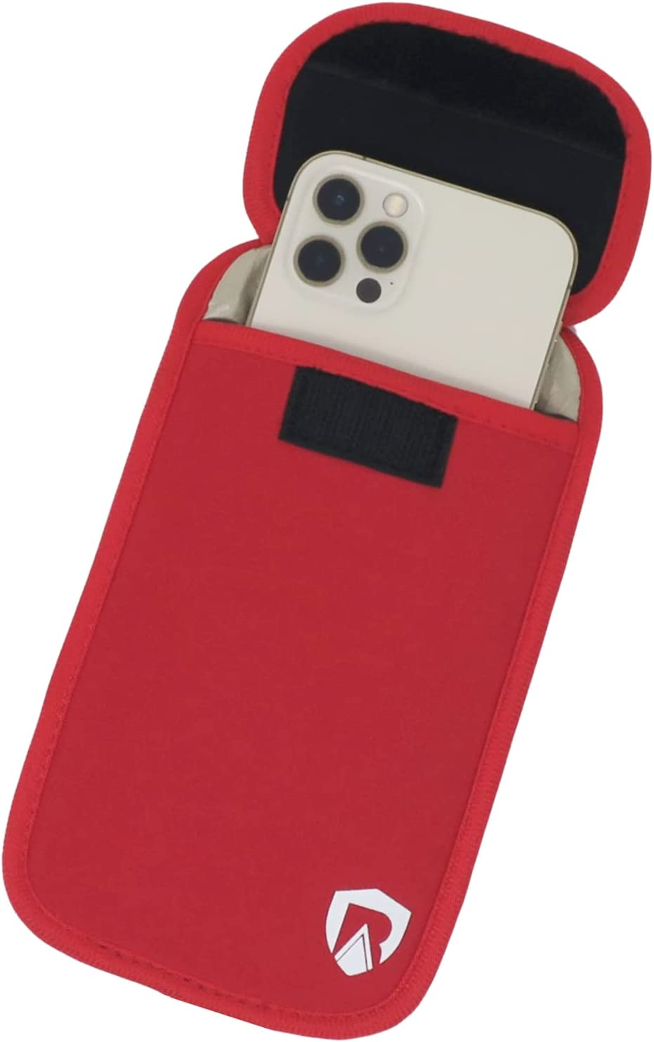 RadiArmor EMF Blocking Cell Phone Sleeve - Fits Most Cell Phones - Updated Version (Red, Large)