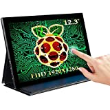 EVICIV 12.3'' Raspberry Pi Touchscreen, 1920x1280, Portable Monitor Touchscreen with Type-C, Mini HDMI, Ultra-Wide IPS Multi-Point Touch Screen, 3:2 for Raspberry Pi, PS4 WiiU Xbox One Windows 7/8/10