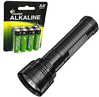 featured product Nitecore EA81 Cree XHP50 Searchlight Flashlight with 8 Premium Eco-Sensa AA batteries