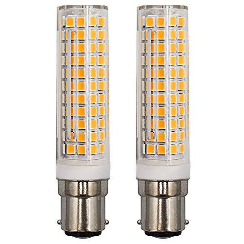 Dimmbar 9W B15D LED Glühbirnen 3000K Warmweiß Ersatz 100W Halogenlampe AC 220-240V 360 Grad Winkel für Nähmaschinenlampe, Deckenventilatorbirnen 2-er Pack [MEHRWEG]