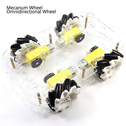 EMOZNY Smart Robot Car Chassis Kit Mecanum Wheel Omnidirectional Wheels 4WD Robot Smart Car Kit