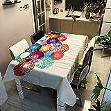Oukeep Tovaglia Moderna Minimalista 3D Tovaglia Anti-Macchia Anti-Piega Home Restaurant Hotel Cafe Tovaglia Sfondo Panno Decorativo