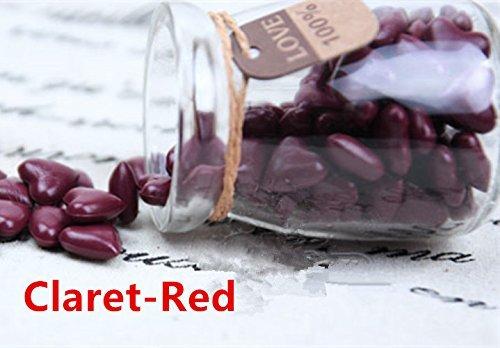 MDLG 90 stks Claret-Red hart vorm gebotteld glas voor Wax afdichting stempel Vintage bruiloft uitnodigingen kaars maken Gift kaarten afdichting envelop Wax Sticks kralen