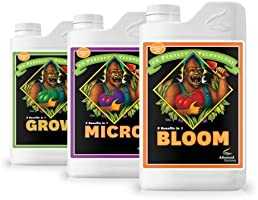 Advanced Nutrients pH Perfect Hydroponic Nutrients: Bloom, Micro and Grow 1-Liter PACK OF 3