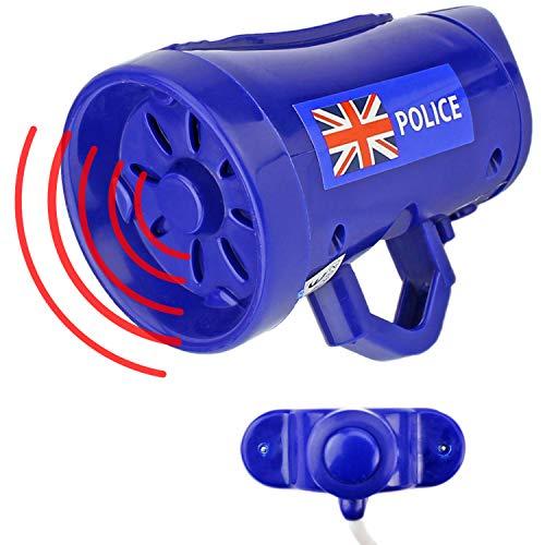 Mabax Polizei Fahrrad Sirene Cop   3 Sounds Fahrradsirene   Kinder Fahrradhupe Fahrradklingel Blau