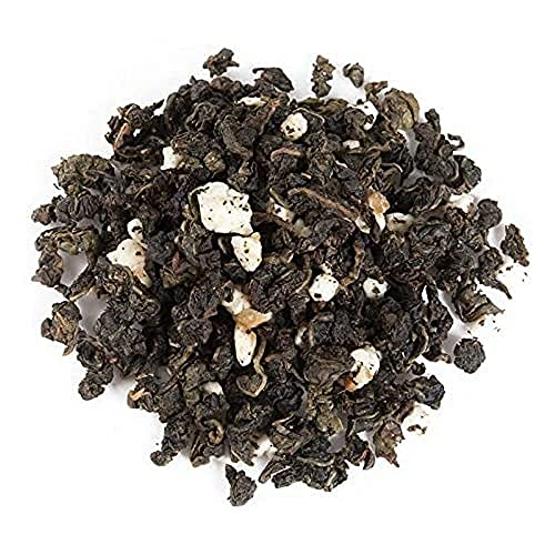 Aromas de Té - Té Azul Oolong Dulce Pasión con Trozos de Turrón Almendras Miel y Manteca de Cacao a Granel, 75 gr