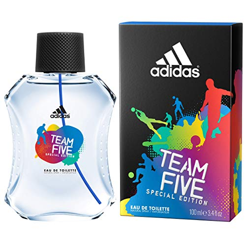 adidas Team Five Eau De Toilette 100 ml, 1er Pack (1 x 100 ml)
