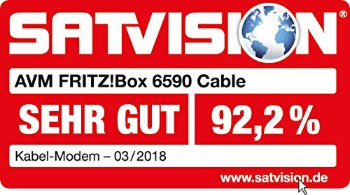 AVM FRITZ!Box 6590 Cable WLAN AC + N Router (DOCSIS-3.0-Kabelmodem, Dual-WLAN AC+N mit 1.733 Mbit/s (5 GHz) + 800 MBit/s (2,4 GHz), VoIP-Telefonanlage) - 8