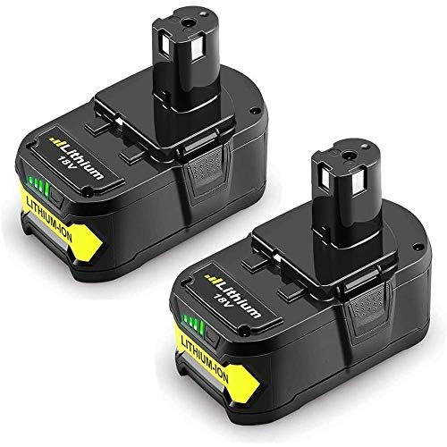 2Pack P108 6.0Ah 18V Replacement Battery for Ryobi 18V Lithium Battery P102 P103 P104 P105 P107 P109 P190 P191 P122 Ryobi 18-Volt ONE+ Plus Cordless Tool