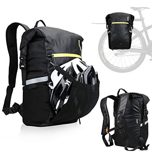 FASPUP Alforja Bicicleta, Bolsa Bicicleta Maletero Impermeable Portaequipajes Bicicleta Trasero Bolsa Mochila Alforja Bicicleta Adapta MTB, Motocicletas