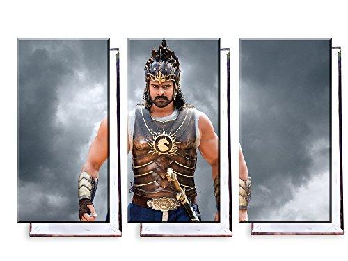 Unified Distribution Prabhas Bahubali 2 - Dreiteiler (120x80 cm) - Bilder & Kunstdrucke fertig auf Leinwand aufgespannt und in erstklassiger Druckqualität