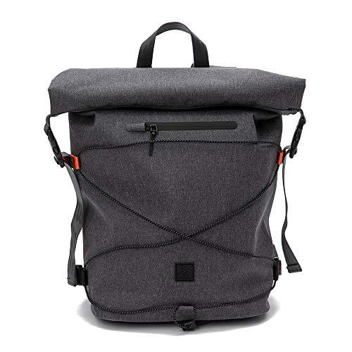 IAMRUNBOX Spin Bag - Rucksack, Laptoptasche, wasserdicht & diebstahlsicher - Casual, Sport & Reisen - 18L (Grau)