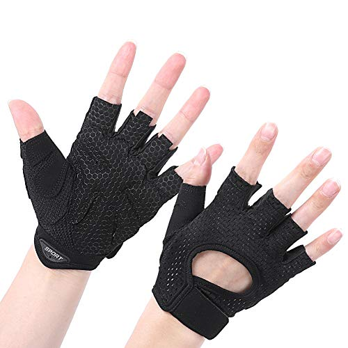 Foaynn Workout Gloves Weight Lifting Gloves Gym Gloves Exercise Gloves for Men & Women, Exercise Gloves Sports for Training,Suit for Fitness(1 Pair Size: M)
