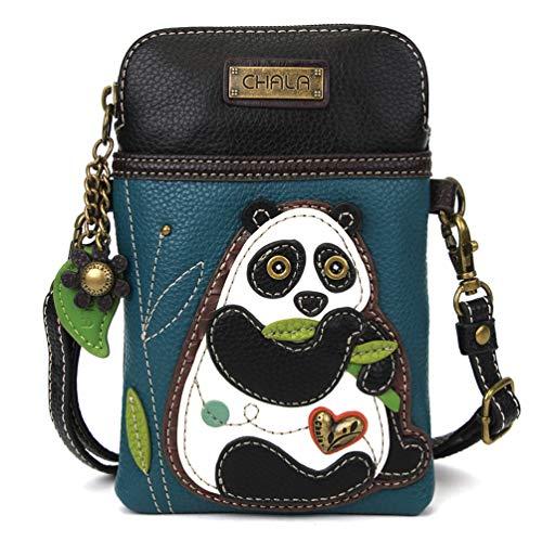 Chala Crossbody Cell Phone Purse - Women PU Leather Multicolor Handbag with Adjustable Strap - NewPanda Turquoise