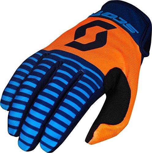 Scott 350 Track MX Motocross/DH Fahrrad Handschuhe blau/orange/schwarz 2017: Größe: L (10)