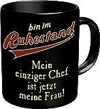 RAHMENLOS Original Kaffeebecher für den Rentner: Bin im Ruhestand Im Geschenkkarton 2606