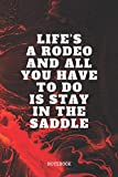 Notebook: Rodeos Quote / Saying Bull and Horse Rodeo Planner / Organizer / Lined Notebook (6' x 9')