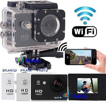 Câmera de Ação Esportiva Filmadora Prova D Água Com Wi-fi HD Conecta Celular