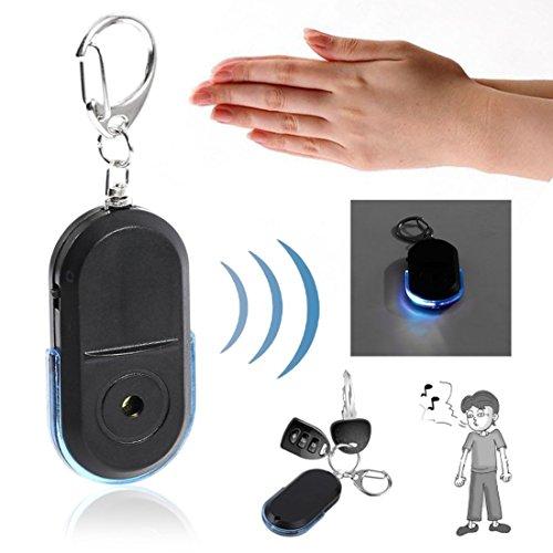 Buscador de Llave de Alarma Anti-perdida Buscador de Llave de LED de Silbato útil Buscador de Llavero (Color: Azul)