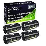 Paquete de 4 cartuchos de tóner (negro), compatible con impresoras Lexmark MS810de MS810dn MS810dtn MS810dtn MS810n MS811dn MS811dtn MS811n